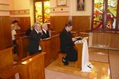 liturgia Mszy św. w kaplicy Sióstr w Warszawie