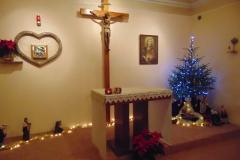 wystrój świąteczny kaplicy w Warzsawie