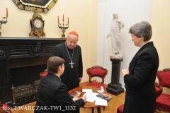 pamiątkowy wpis do Księgi Gości w Kurii Krakowskiej