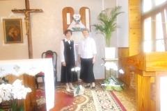 szczęśliwe Jubilatki przed tabernakulum